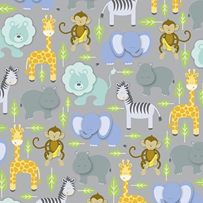 Zoo Animals Gift Wrapping Paper Roll 24 X 16' by Premium Gift Wrap