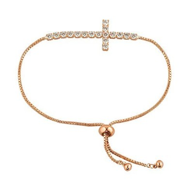 lovelycharms Sideways Cross Bracelets for Women