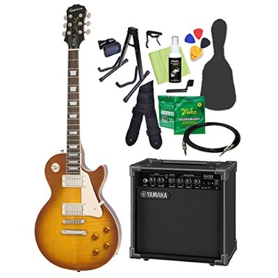 Epiphone Limited Edition Les Paul Standard Plustop PRO Iced Tea エレキギター 初心者14点セット ヤマハアンプ付き レスポール...