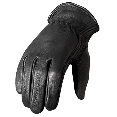 Hot Leathers Classic Deerskin Unlined Driving Gloves (Black, X-Large) by Hot Leathers