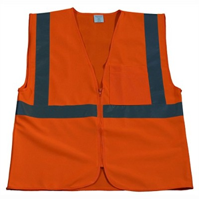 Petra Roc OV2-CB0-L-XL Safety Vest Ansi Class 2 Contrast Binding Orange Solid44; Large & Extra Large