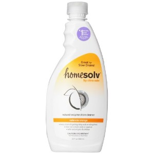 Citrasolv/Homesolv Drain Natural Build-up Remover, Valencia Orange, 22-Ounce Bottles (Pack of 6) by...