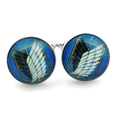 スチームパンク – Attack on Titan Blue Cufflinks – titan1