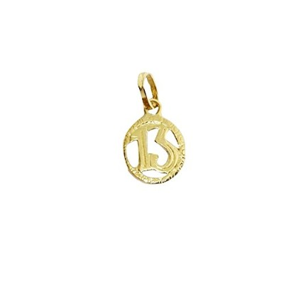 Pendant 18 lucky pendant in 18 Kt YELLOW GOLD (750/000) ペンダントペンダント13 ラッキーチャーム18 Kt YELLOW GOLD(750...
