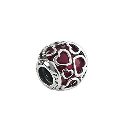 PANDORA (パンドラ) チャーム MULTI 792036NCC CERISE ENCASED IN LOVE CHARM CEREZA [並行輸入品]