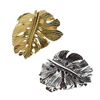 SCALES ACCESSORIES メタルリーフバンス ヘアアクセサリー 金銀2色セット ギフトボックス付き