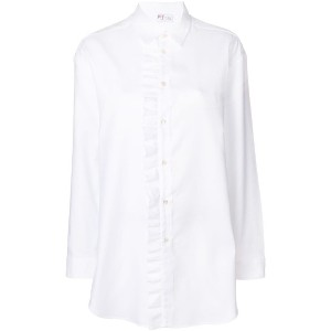 Red Valentino ruched placket shirt - ホワイト