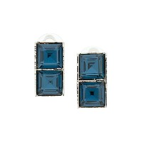 Christian Dior Vintage 90's square earrings - ブルー