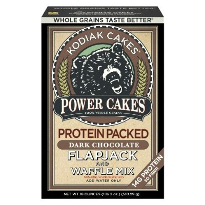 Kodiak Cakes Protein Packed Flapjack & Waffle Mix Dark Chocolate - 18oz(510.29g) プロテイン入りフラップジャック...