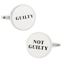 Cuff - Daddy Guilty / Not Guilty Judge弁護士Attorney Cufflinks withプレゼンテーションボックス