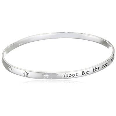 ブレスレットElements Silver B3815 Ladies' Shoot for The Moon Sterling Silver Bangle Diameter 6.88 X 5.94...