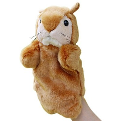 Happy Cherry Kids Puzzle Toys Story Game Education Props Baby Toys Squirrel Plush Hand Puppet...