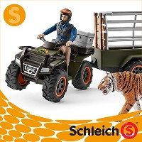 Schleich シュライヒ社フィギュア 42351 ジャングル調査隊 四輪バギーセット Quad bike with trailer and ranger