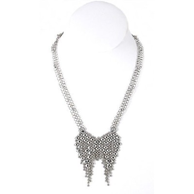 SG液体メタルby Sergio Gutierrez。ネックレス/Chainmail +ポーチ&クリーニングクロス。クロムメッキcmneck3-n