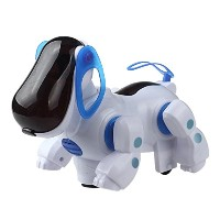 Domybest ロボット犬 尾を振る 声・光・音に反応 ロボットペット ロボット おもちゃ