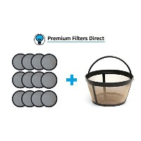 (12 Water Filters + 1 Coffee Filter) - Premium Replacement Charcoal Water Filter Discs for Mr....