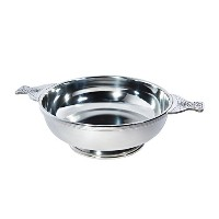 """Wentworth Pewter - Giant 10"""" Pewter Quaich Whisky Tasting Bowl Loving Cup Burns Night"""