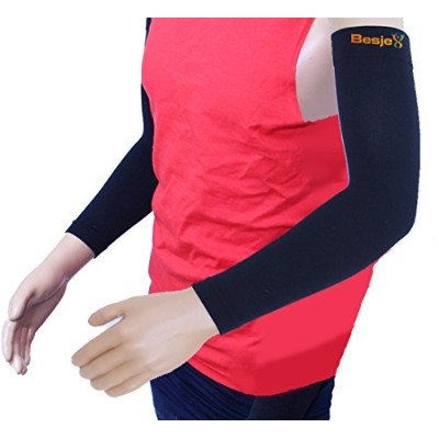 Besjex テ「ツツ「 Compression Arm Sleeve (1 Pair) for Comfort and High Performance in Sports - For Men...