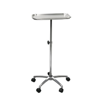 Drive Medical Mayo Instrument Stand with Mobile 5 Caster Base, Chrome by Drive Medical