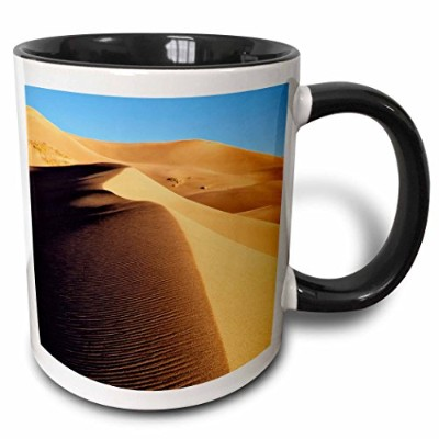 Danita Delimont – Great砂丘 – コロラド州、Great Sand Dunes国立公園 – マグカップ 11-oz Two-Tone Black Mug ブラック mug...