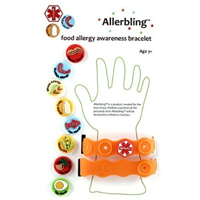 Allerbling Food Allergy Awareness Bracelet by Allerbling