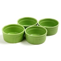 Norpro 4oz Stoneware Colored Ramekins – Set of 4グリーンラメキン