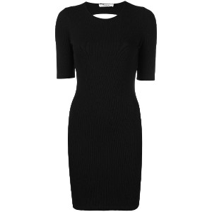 T By Alexander Wang fitted open back dress - ブラック