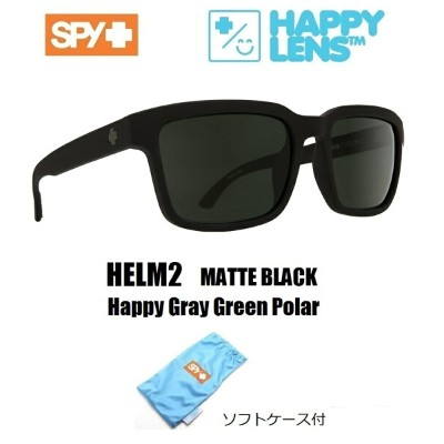 2018新作 ■ SPY OPTICS スパイ 【 HELM2 ヘルム2 】 HAPPY LENS 【 Matte Black - Happy Gray Green Polar 】 偏光レンズ...