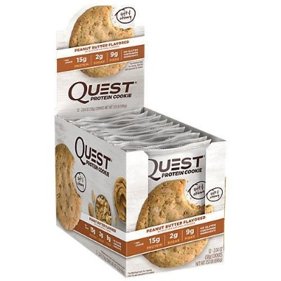 Quest Nutrition(クエストニュートリション), プロテインクッキー Peanut Butter 12 Cookies 海外直送品 並行輸入