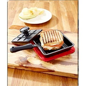 6 in Panini Cast IronパンサンドイッチLodge朝食Fry Mini Baking Bread with押しPie Roasting Pancake料理鍋キッチングリルCheapツ...