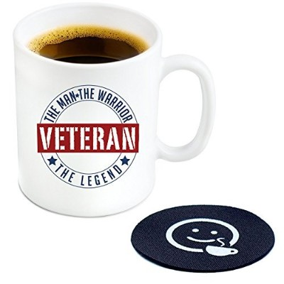Veteran The Man The Warrior The Legendコーヒーマグ、11オンス–Cool Novelty Gift Idea For TheサービスHero in Your...