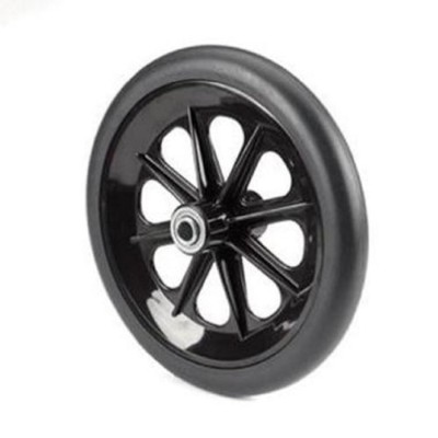 Invacare Caster Assembly, 8 X 1 Inch, 8-spoke Black, Black Rubber Tire, 7/16 Inch Bearing, 2-3/8...