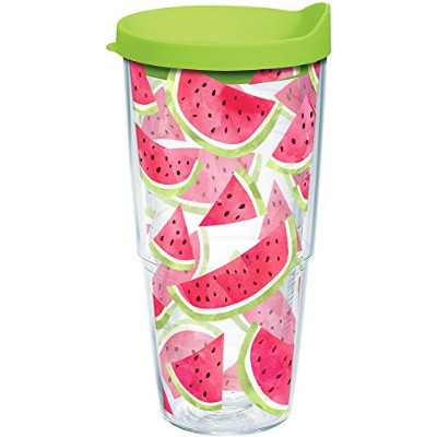Tervis 1243409Eat Drink Be Merry Tumbler with Wrap、24オンス、クリア