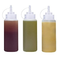 Thetis Homes ( 6パック) 16oz Plastic Squeeze Squirt調味料入れボトルwithツイストキャップ蓋に–Perfect for syrup、Sauce...