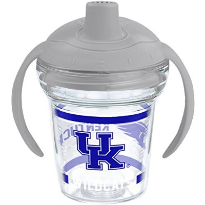 Tervis 1221308 Kentucky Wildcats Tumbler withラップとMoondust Gray蓋6oz My First Tervis Sippy Cup、クリア
