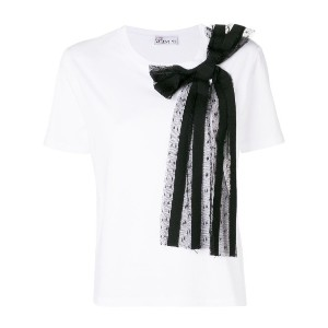 Red Valentino side bow embellished blouse - ホワイト