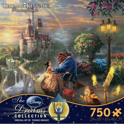 Disney ディズニー 美女と野獣パズル フォールインラブ Beauty and the Beast ''Falling in Love'' Puzzle by Thomas Kinkade...