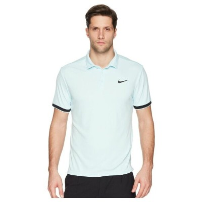 ナイキ メンズ テニス トップス【Court Dry Tennis Polo】Glacier Blue/Black/Black