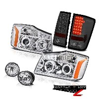 テールライト For 2004-2015 Titan Pro-4X Euro Halo SMD Projector Headlight Tail Lamp Smoke Fog 2004年...