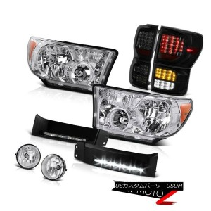 テールライト 2007-2013 Toyota Tundra Limited Rear Brake Lights Headlamps Black Bumper DRL Fog 2007-2013...