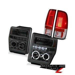 テールライト 2008-2009-2010 Ford F250 F350 F450 SuperDuty Smoke LED Halo Heasdlight Tail Lamp 2008-2009...