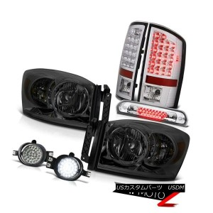 テールライト 07 08 Ram WS Crystal Headlight Clear LED Tail light Foglight Third Brake Cargo 07 08 Ram...