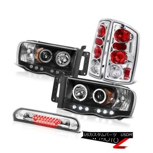 テールライト Black Halo LED Headlights Chrome Rear Brake Tail Lights High 2002-2005 Ram 2500 ブラックハローLEDヘッド...