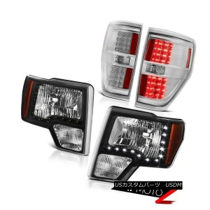 テールライト 2009-2014 Ford F150 Raptor LED SMD DRL Strip Head Lights LED Chrome Tail Lights 2009...