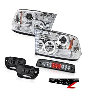 テールライト 2009-2013 Dodge Ram 1500 3.0L Foglights 3RD Brake Light Crystal Clear Headlamps 2009-2013...