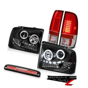 テールライト Angel Eye CCFL Headlamps Bright LED Taillamps Roof Brake LED 05 06 07 Ford F250 天使の目CCFLヘッドライ...