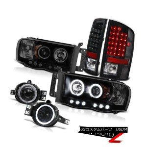 テールライト 2002-2005 Ram Magnum 5.9L SLT Projector Halo DRL Headlights SMD Tail Light Blk 2002...