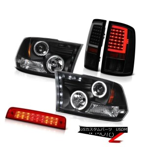 テールライト 09-18 Dodge RAM 1500 Tail Lamp Third Brake Light Black Headlamps Assembly PAIR 09-18ダッジRAM...