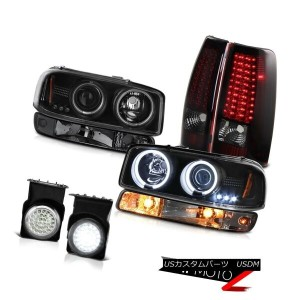テールライト 03-06 Sierra 5.3L Fog lamps led tail bumper lamp infinity black ccfl Headlights 03-06シエラ5...