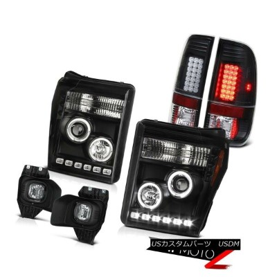 テールライト 11 12 13 14 15 16 F350 6.7L Foglights Black Taillamps Projector Headlights SMD 11 12 13 14...